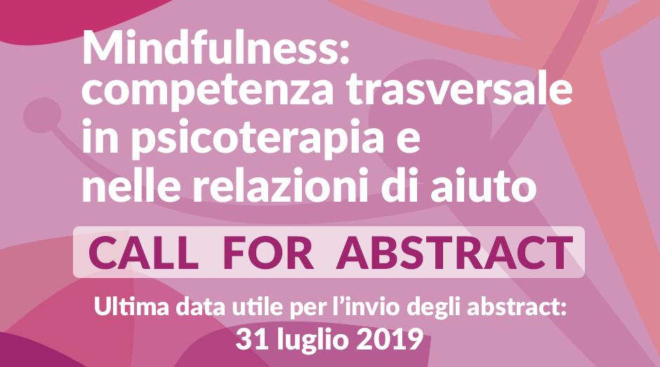 Call for Abstract. Condividi a Roma il tuo progetto Mindfulness